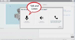 talk and listen